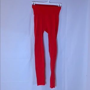 Free People Movement High-waisted Red Leggings